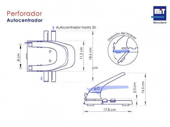 Perforador Autocentrador