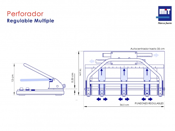 Perforador Regulable Multiple